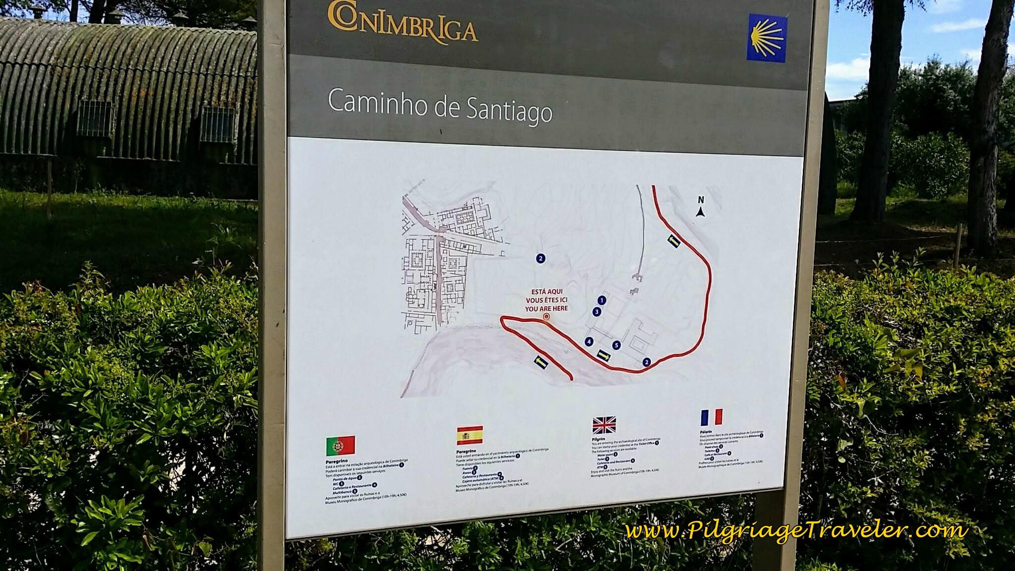 Entering Roman Ruins of Conimbriga
