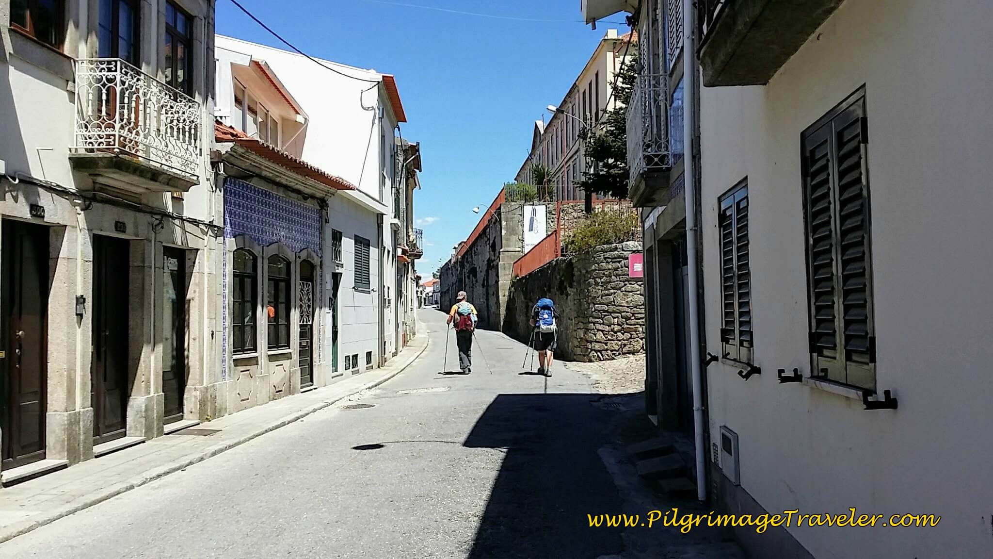 Getting Closer to Caminha Town Center on the Rua Benemérito Joaquim Rosas on day eighteen of the Camino Portugués on the Coastal Route