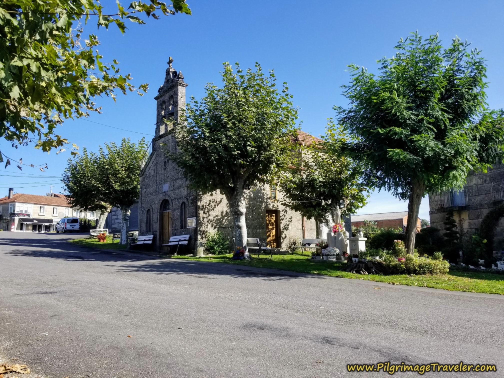 Pass Town Church and Bar A Cubeliña, Camino Sanabrés, Ourense to Cea