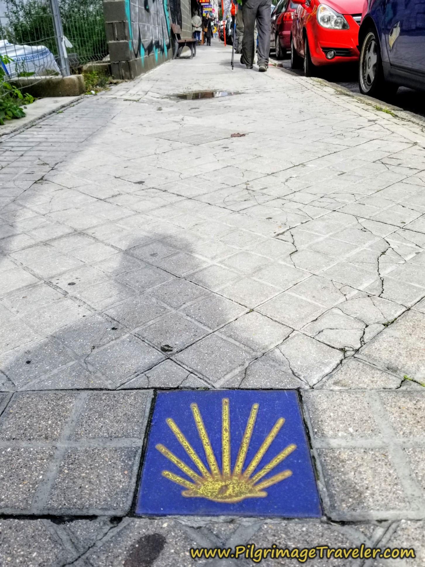 Avenida de Zamora Waymark, Camino Sanabrés, Xunqueira de Ambía to Ourense