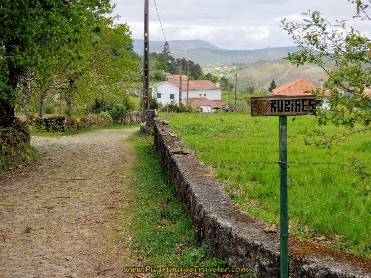 Entering Rubiães on day eighteen on the Central Route of the Portuguese Camino
