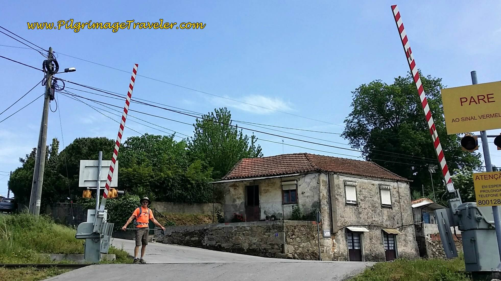 Railroad Crossing in Faria on day thirteen of the Portuguese Camino