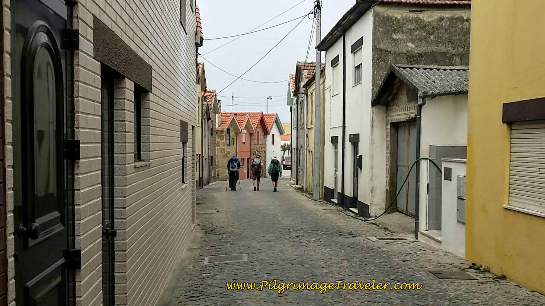 Through the Narrow Streets of Vila Chá on day fifteen of the Camino Portugués on the Senda Litoral
