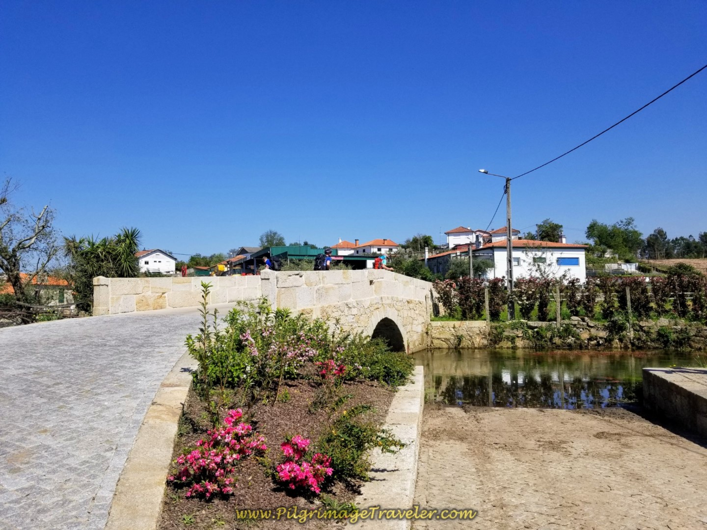 Small Roman Bridge, Ponte de Barros on day seventeen on the Central Route of the Portuguese Camino