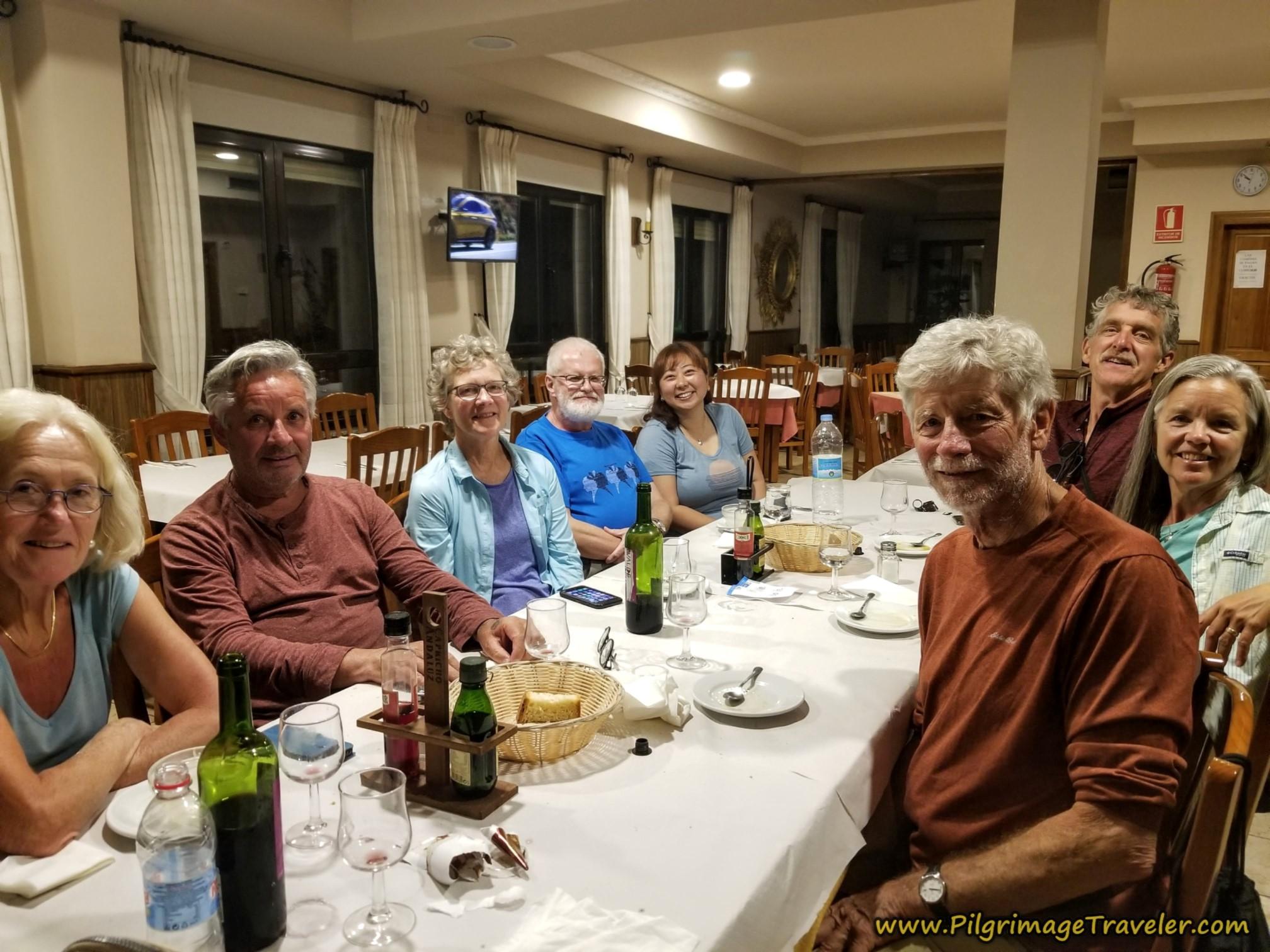 Community Meal at El Roble Restaurant, Tábara