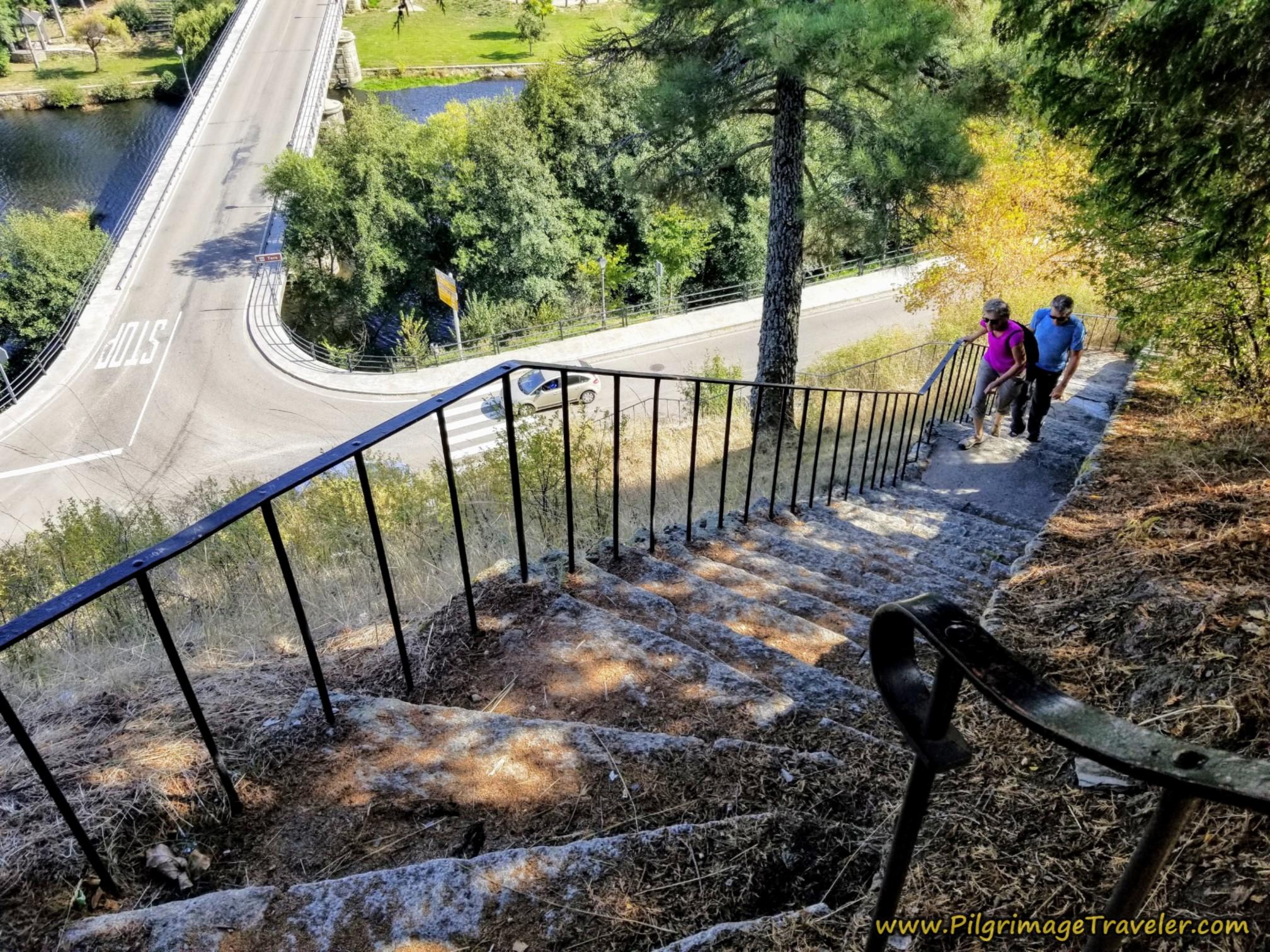 Stairway to Fortress Hill, Puebla de Sanabria