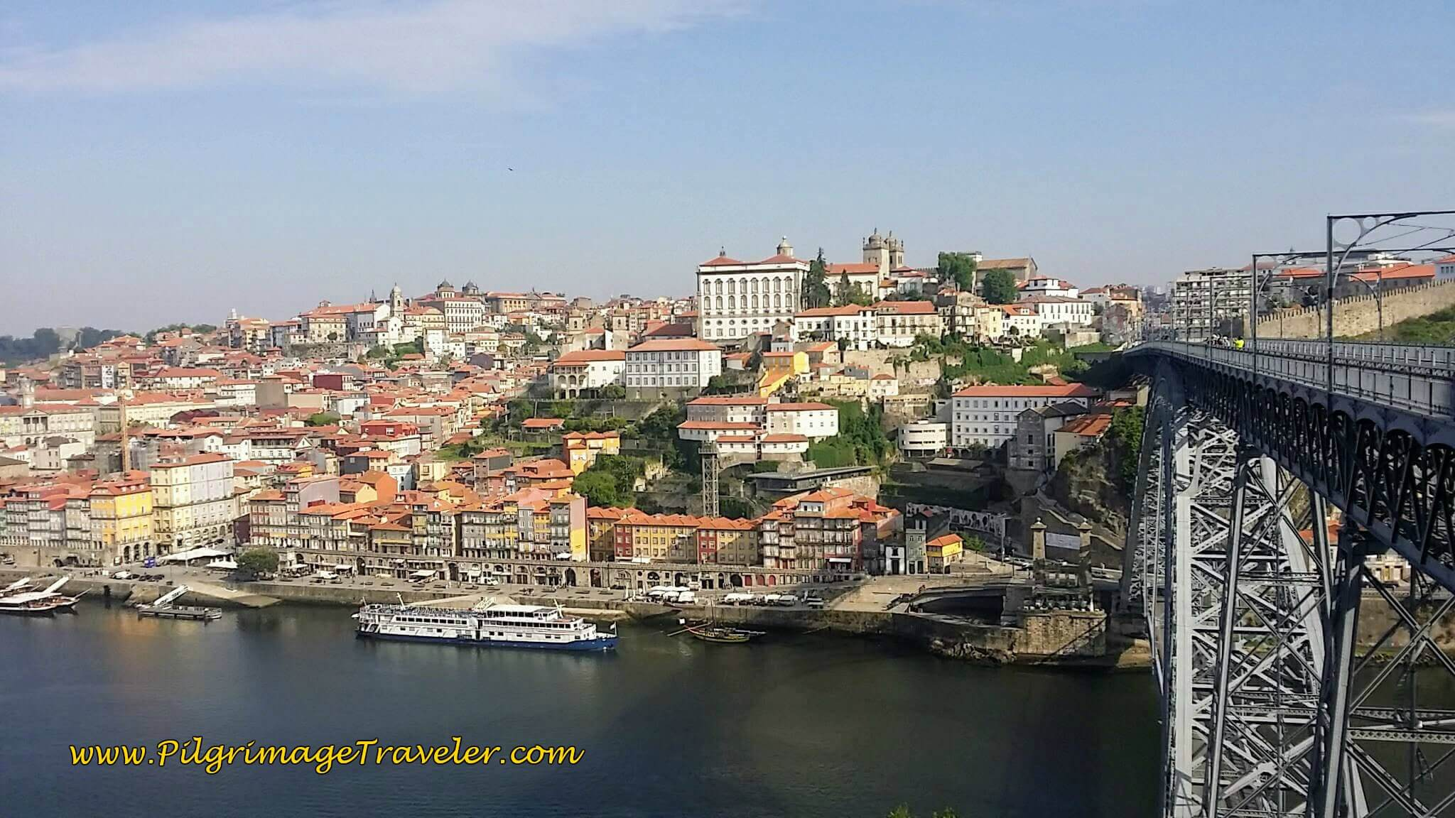 The Famous View Across the River Douro of Porto on day fourteen of the Camino Portugués