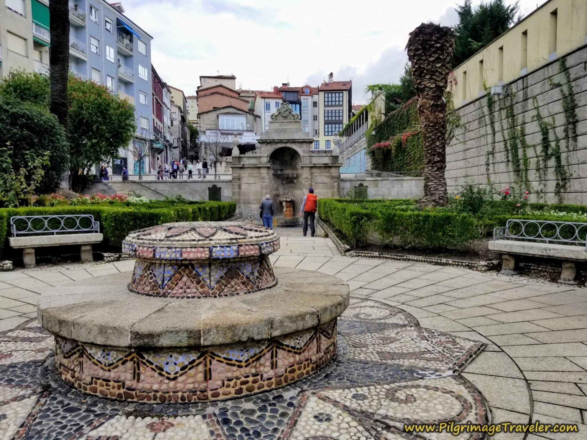 Entryway to As Burgas Hot Springs, Camino Sanabrés, Xunqueira de Ambía to Ourense