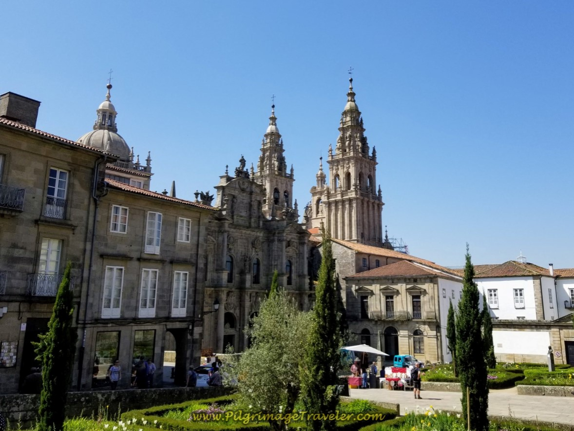 Enter into the Praza da Inmaculada on day eight of the English Way