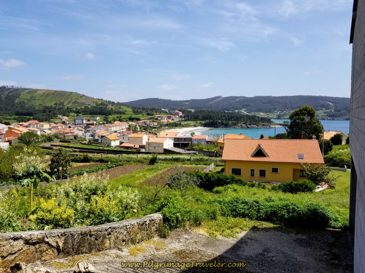 Lofty Views of Sardiñeiro Bay and Beach on day three of the Camino Finisterre