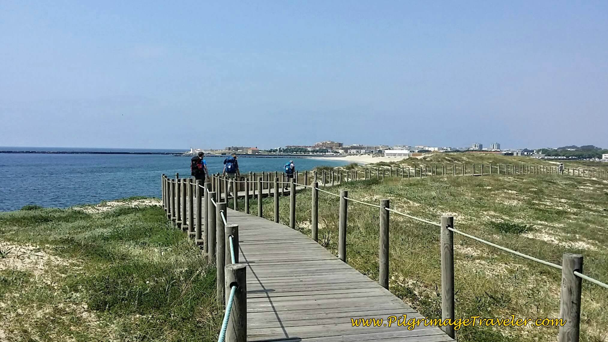 Vila do Conde Just Ahead on day fifteen of the Camino Portugués on the Senda Litoral