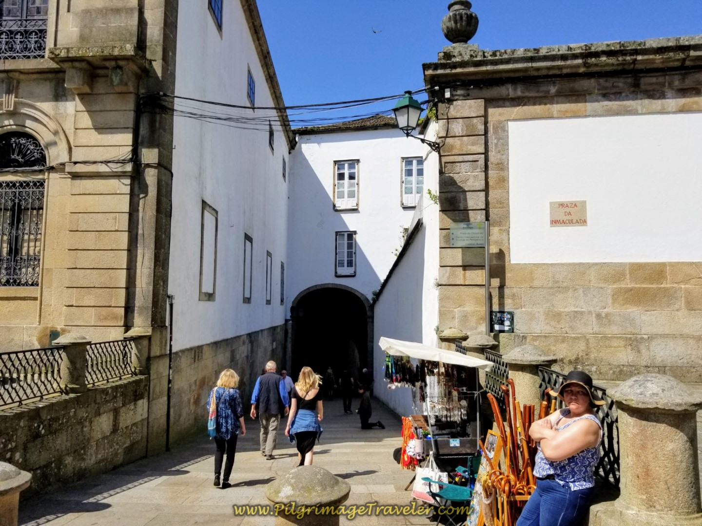 Through the Arco de Palacio to Obradoiro Square on day eight of the English Way