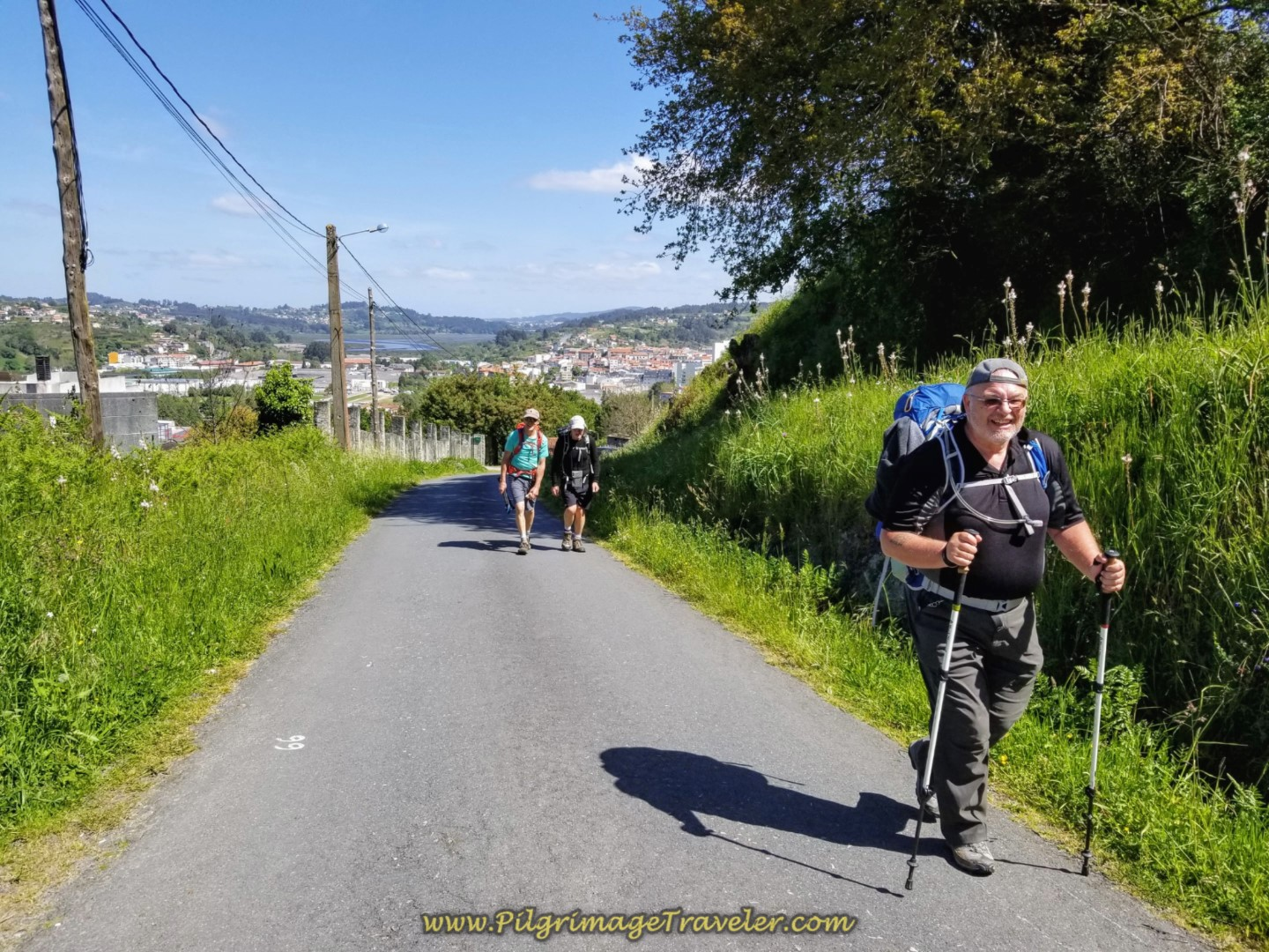 Steve Continues the Climb Out of Betanzos on Day Five of the Camino Inglés