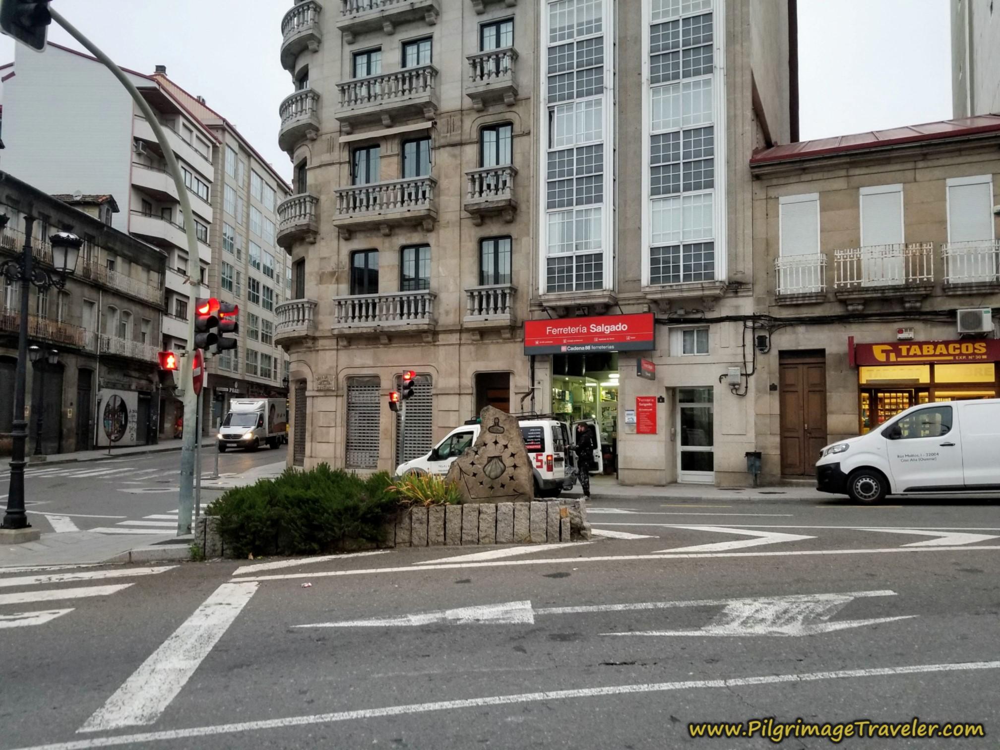 Right Turn onto the Avenida de Santiago