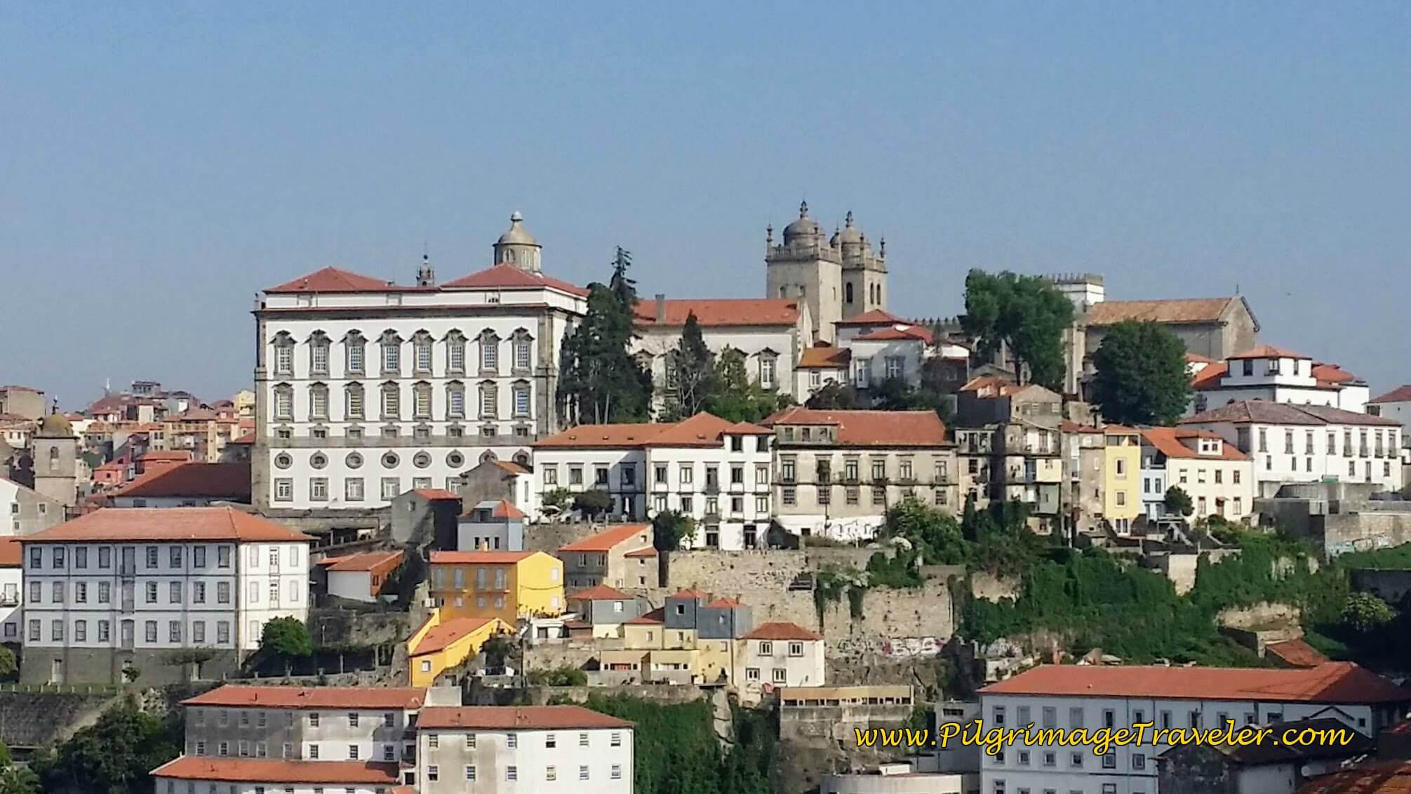Close-Up of the Sé do Porto from the Bridge on day fourteen of the Camino Portugués
