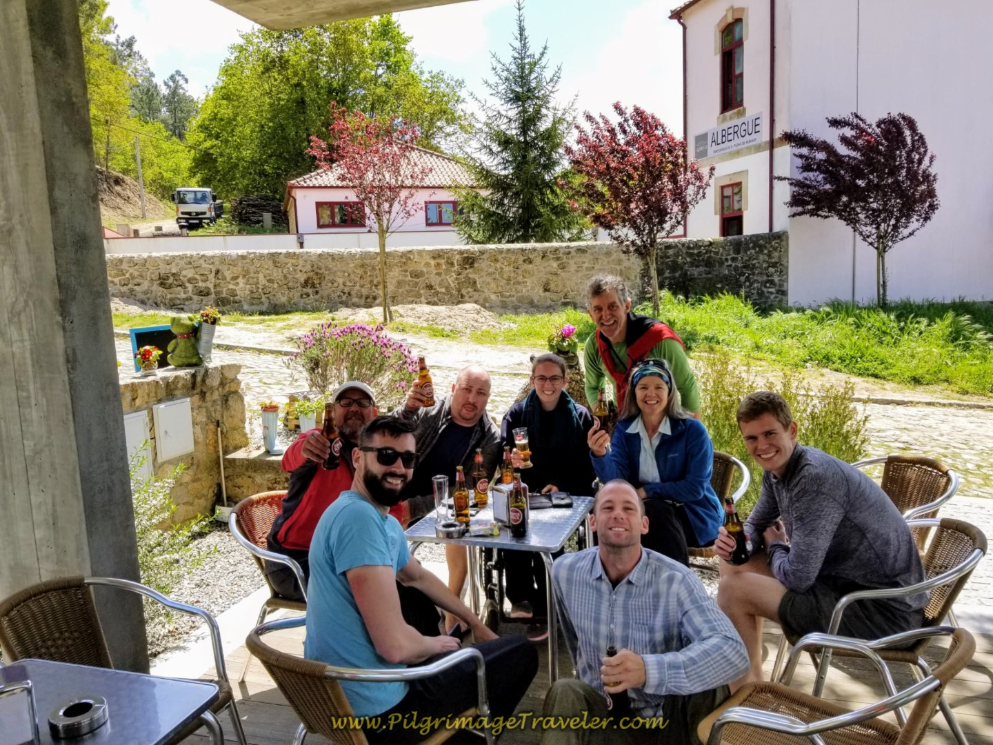Happy Hour at the Café São Sebastião on day eighteen on the Central Route of the Portuguese Camino
