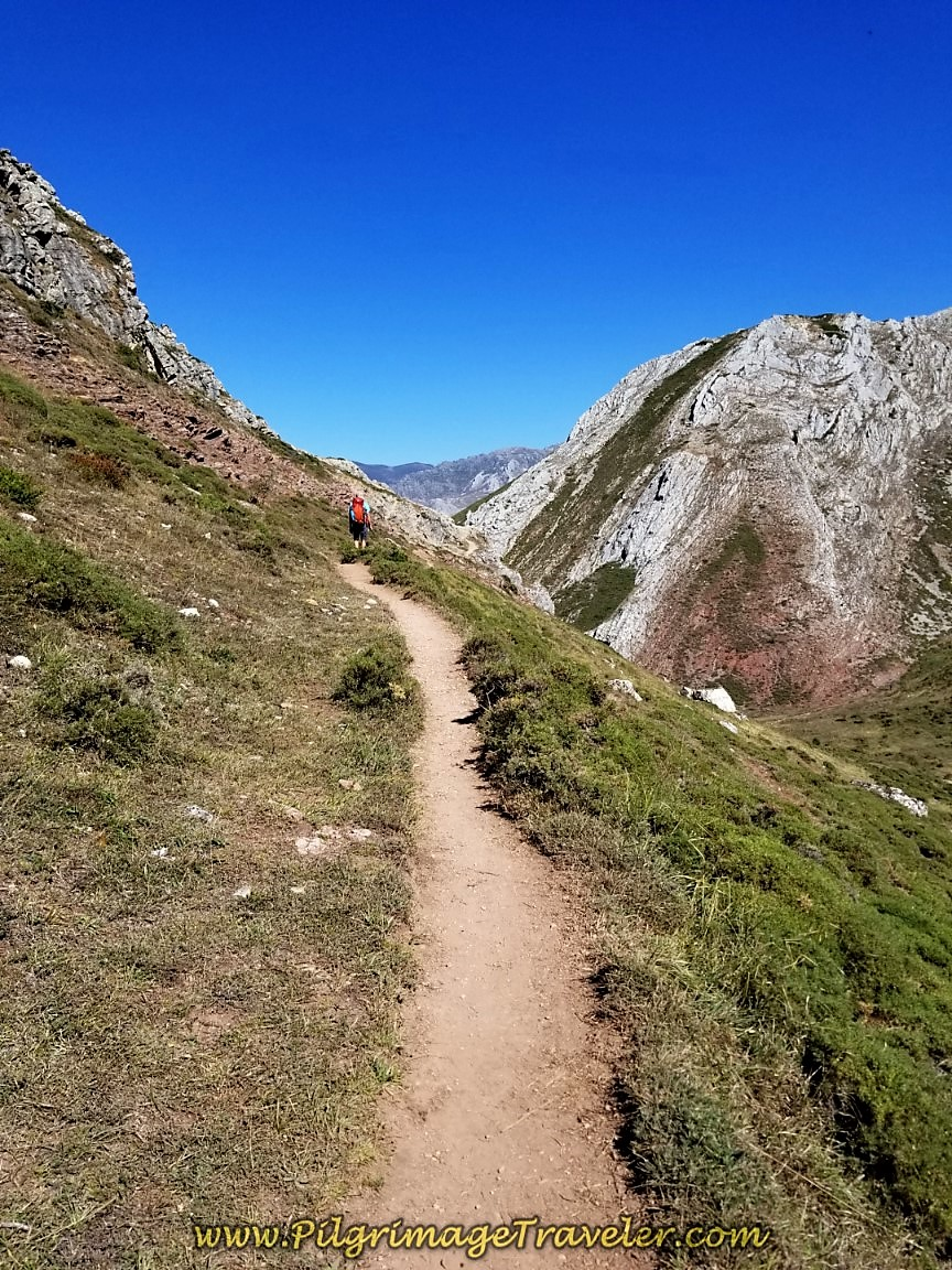 Heading Toward La Carba Mountain on day two of the Camino San Salvador