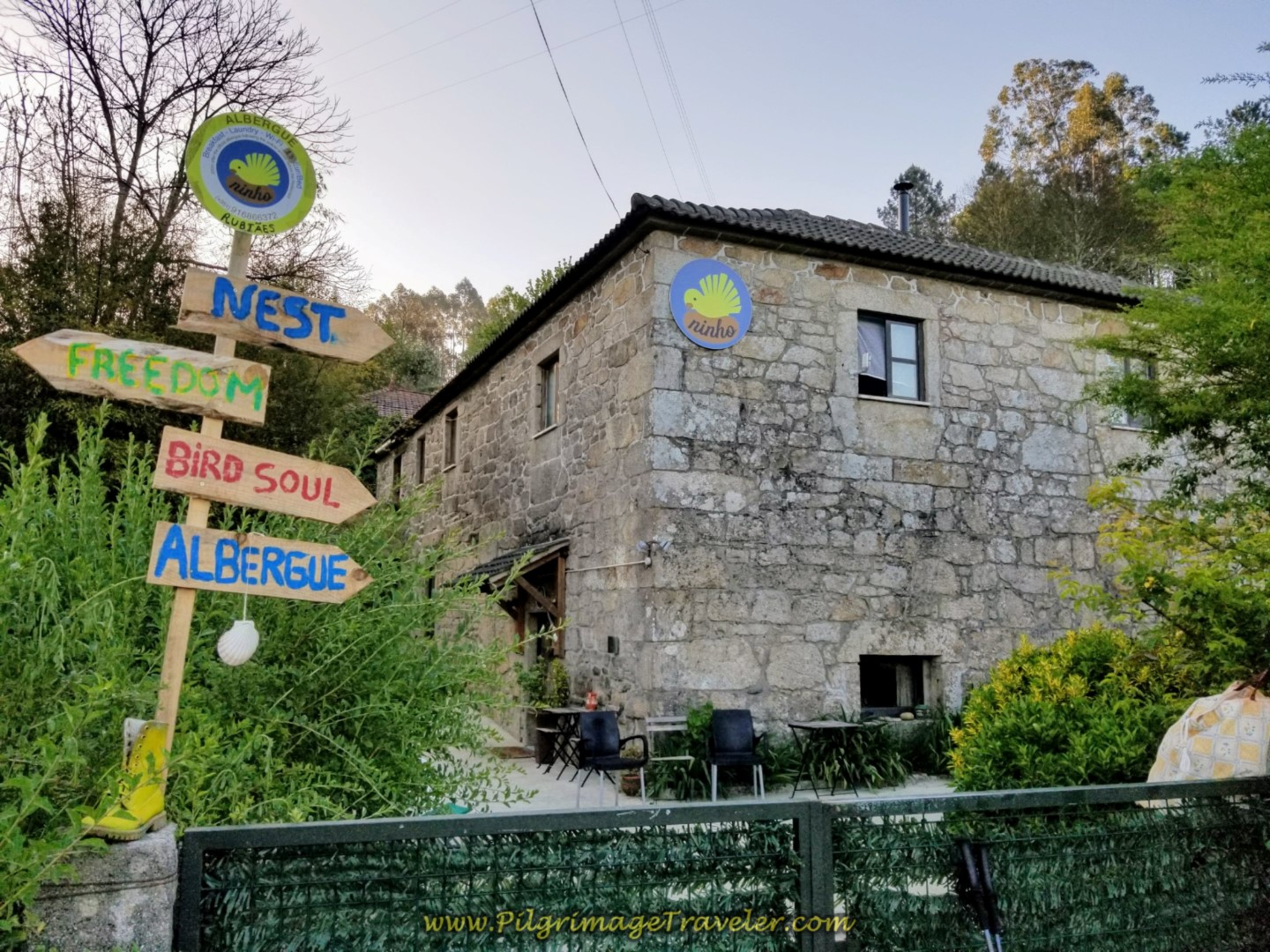The Pilgrim's Nest Albergue Ninho in Rubiãs on day eighteen on the Central Route of the Portuguese Camino