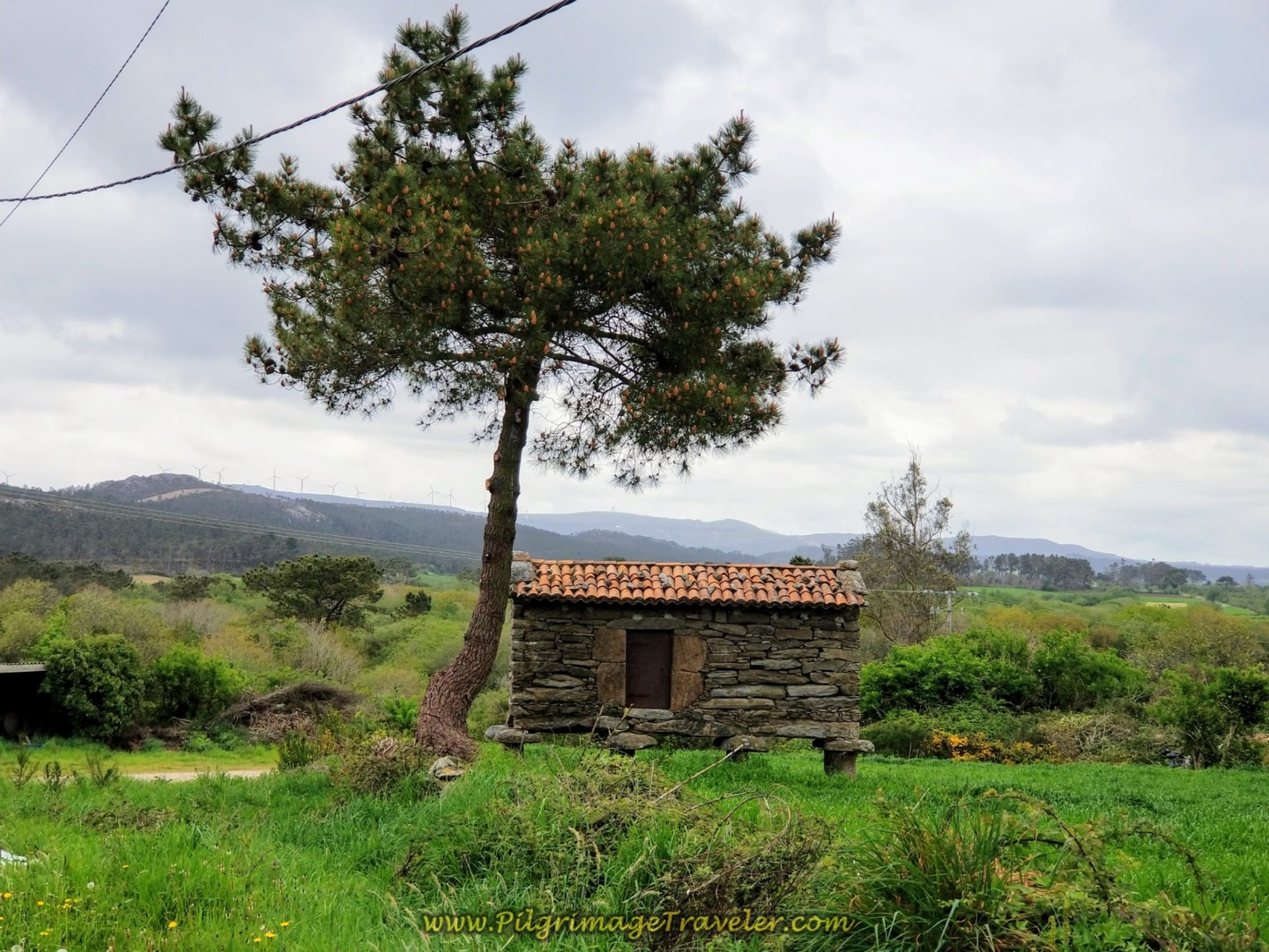 Quaint Stone Horreo on the Road to Corzón