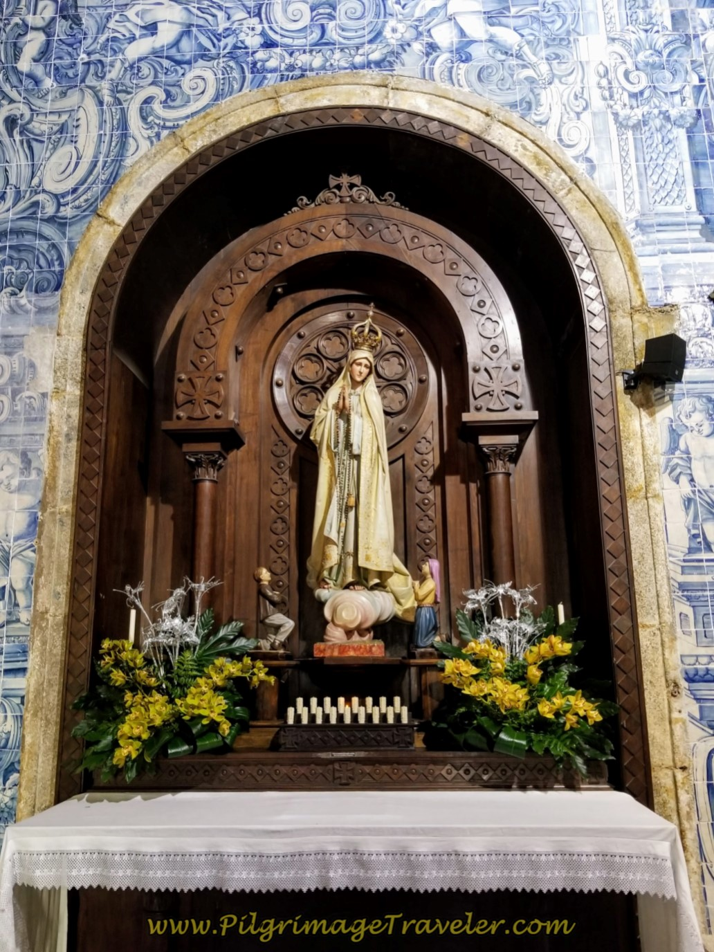 Fátima Altar in the Igreja Matriz de Barcelos, Portugal