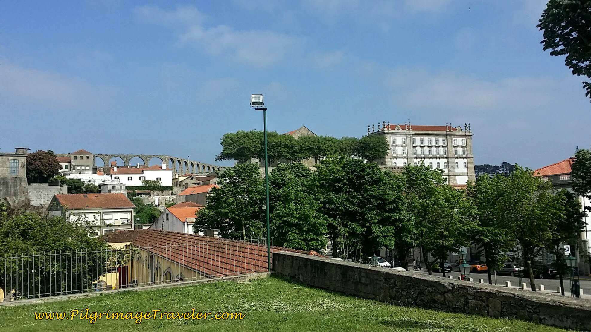 Aqueduct and Monastery of Santa Clara, Vila do Conde, Portugal on day fifteen of the Camino Portugués