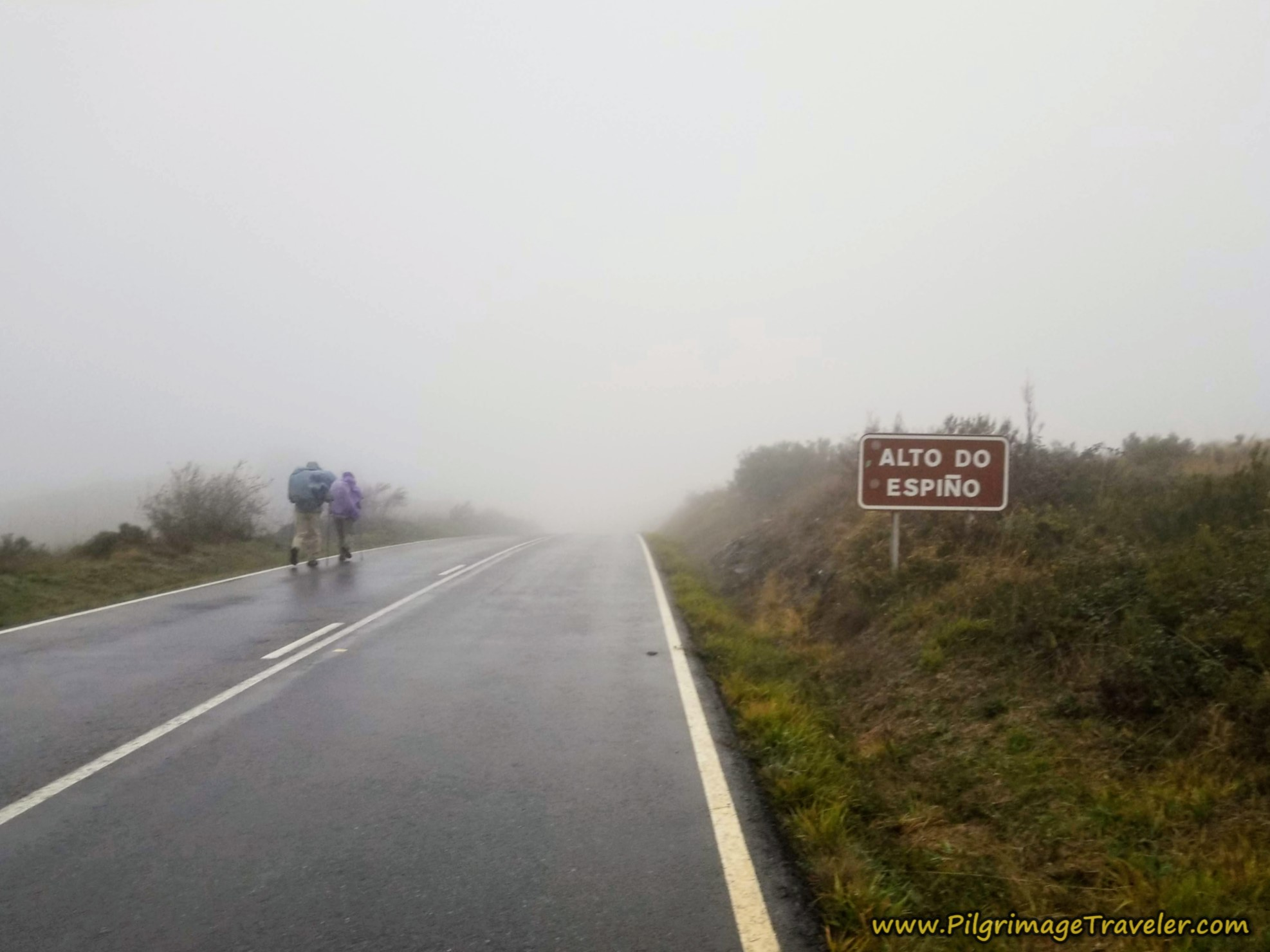 Passing the Alto do Espiño on the Camino Sanabrés from A Gudiña to A Venda da Capela