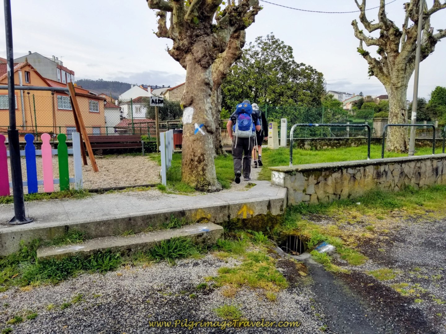 Shortcut by Playground in Neda on day two of the Camino Inglés