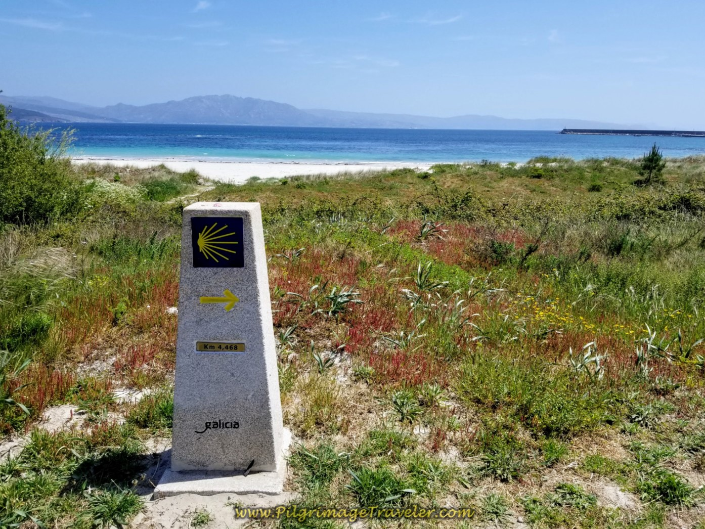 4.468 Kilometer Marker Along the Beach