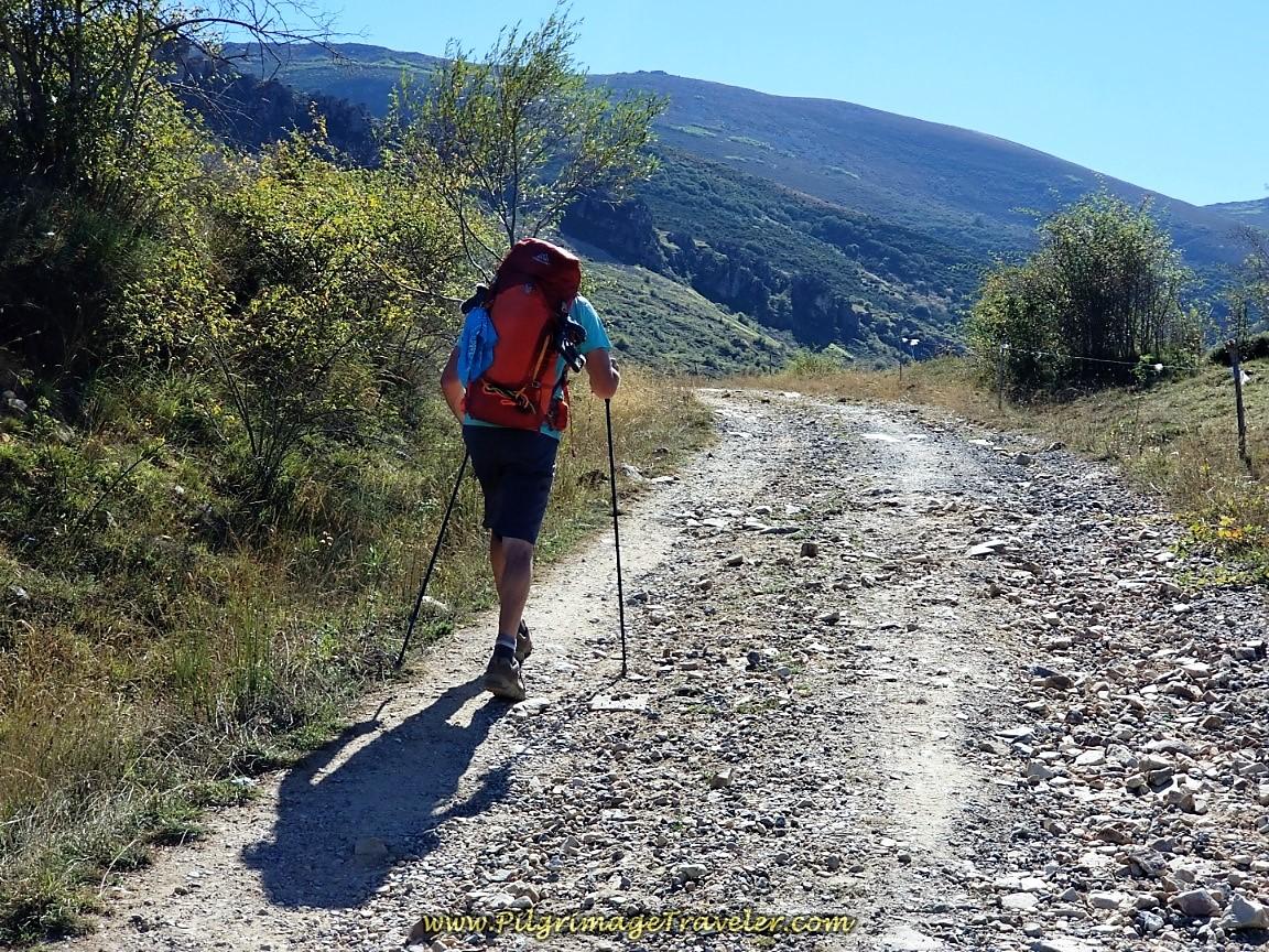 Uphill Leaving San Martín de la Tercia