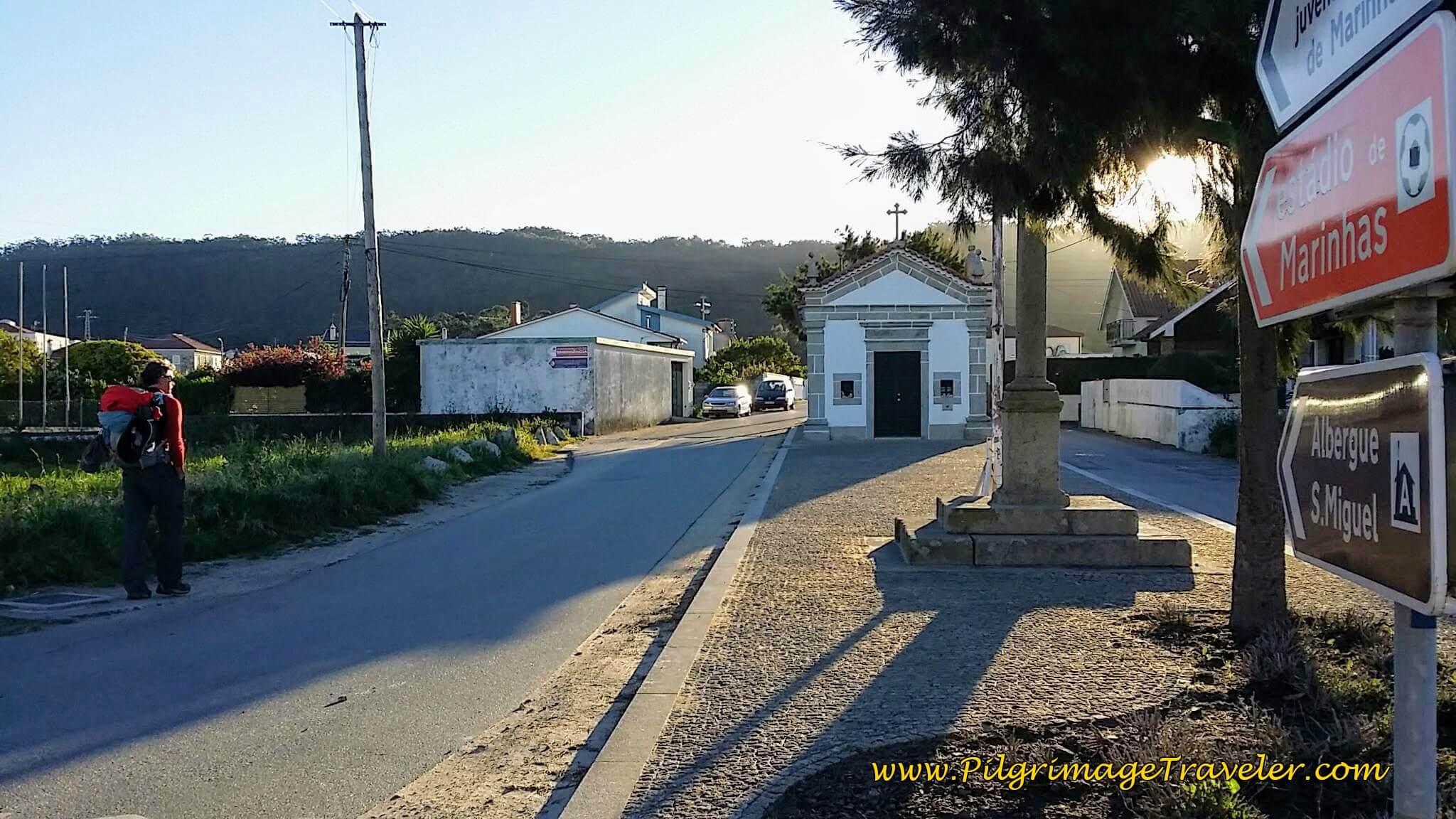 The Way to the Albergue São Miguel, by the Capela de São Sebastião on day seventeen of the Camino Portugués