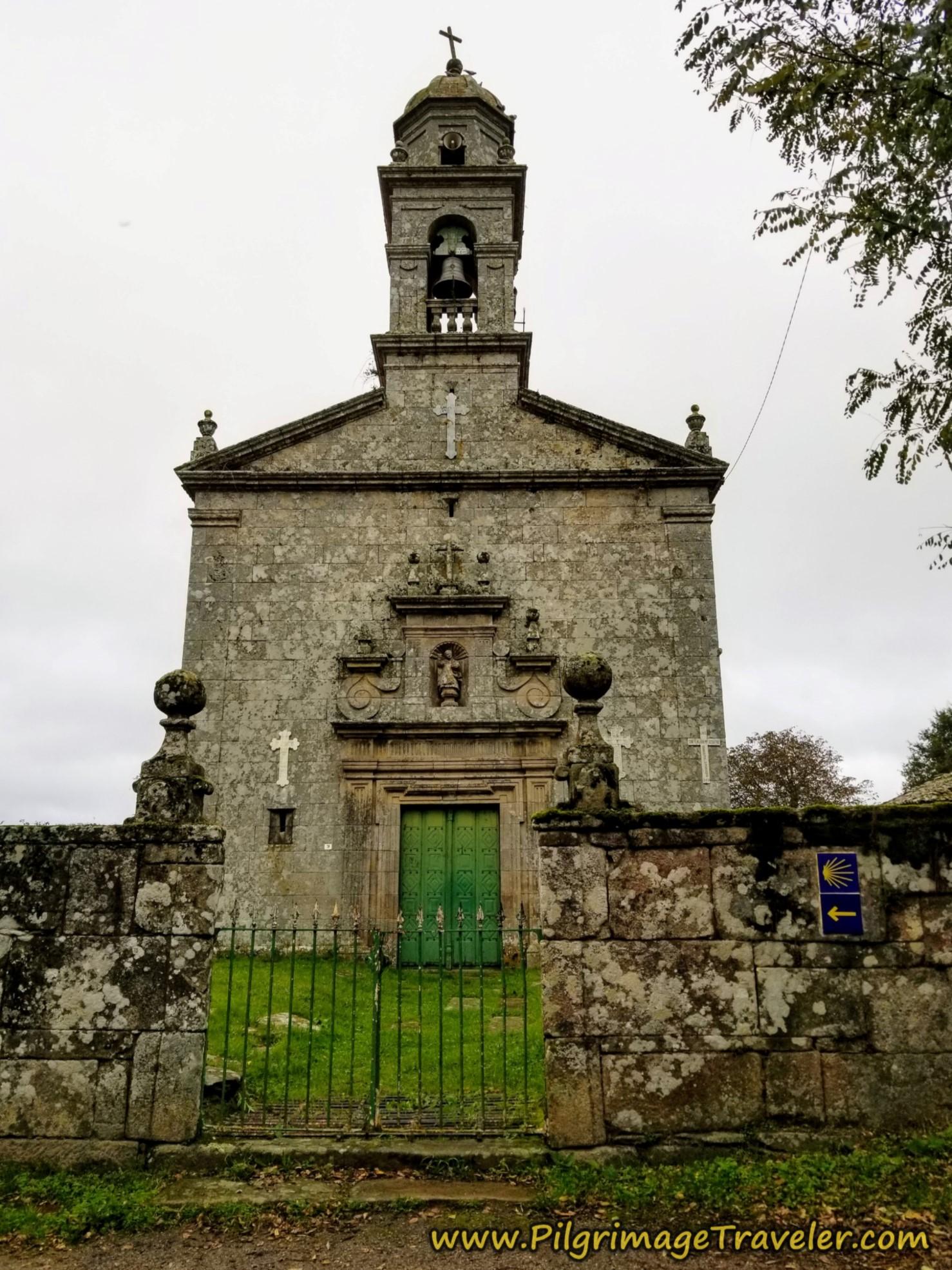 Iglesia de Santa Eulalia de Donsión on the Camino Sanabrés, Estación de Lalín to Bandeira