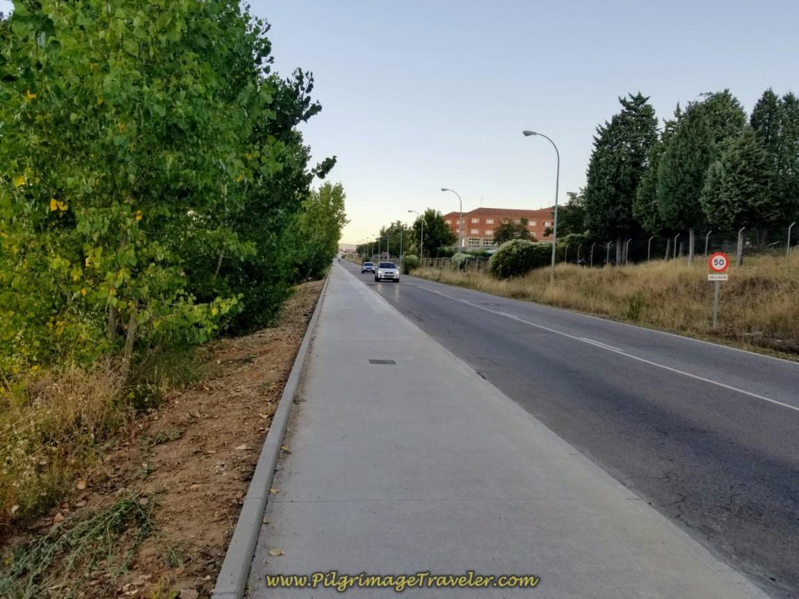 Leaving León on the Carretera de Carbajal
