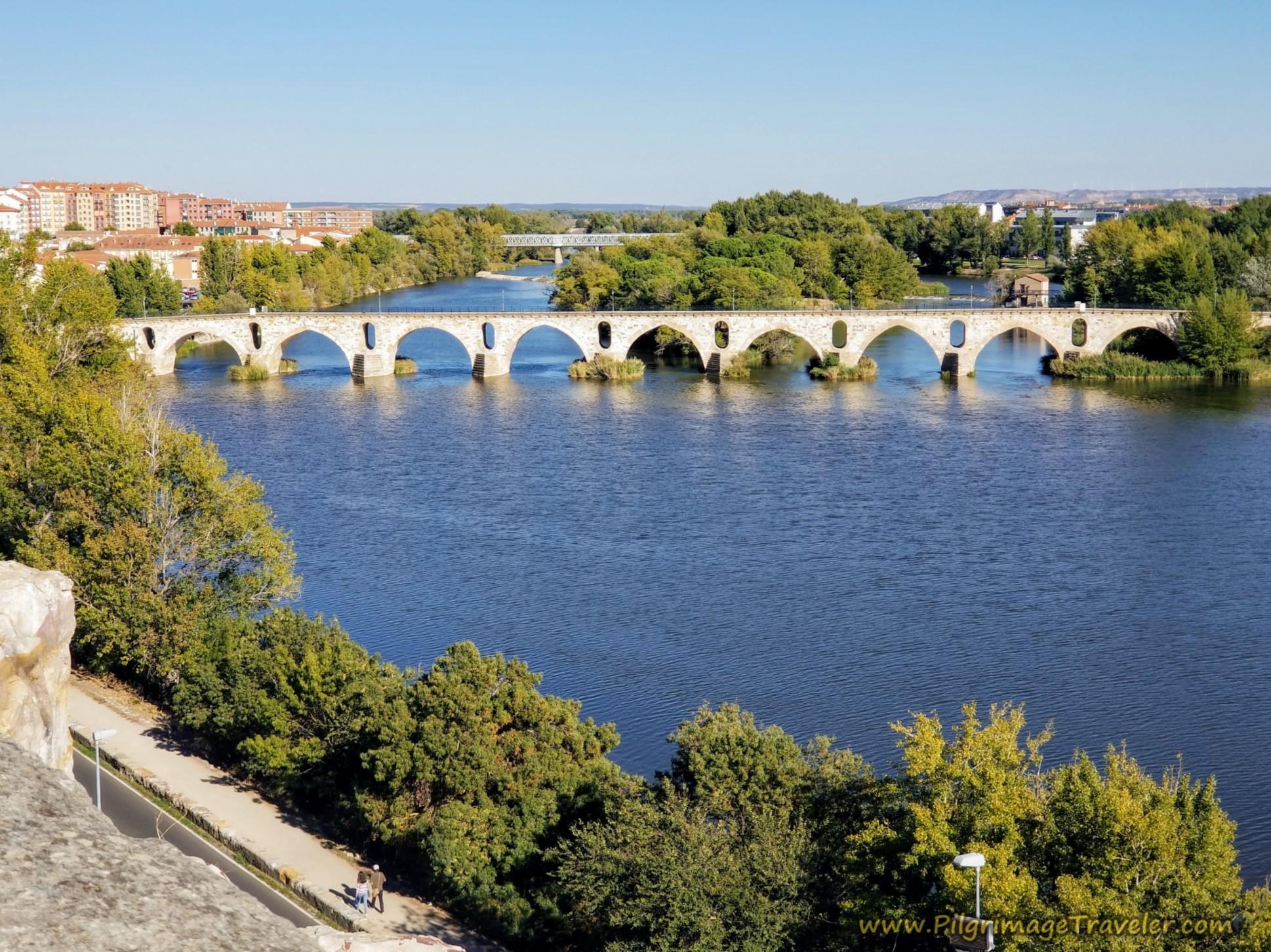 Medieval Bridge from Mirador del Troncoso
