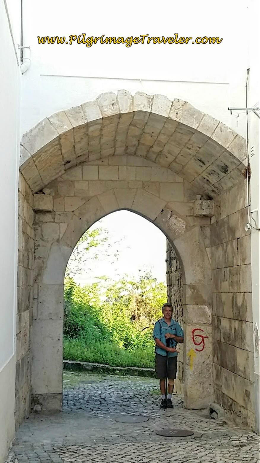 Rich at the Porta de Santiago, Santarém, Portugal