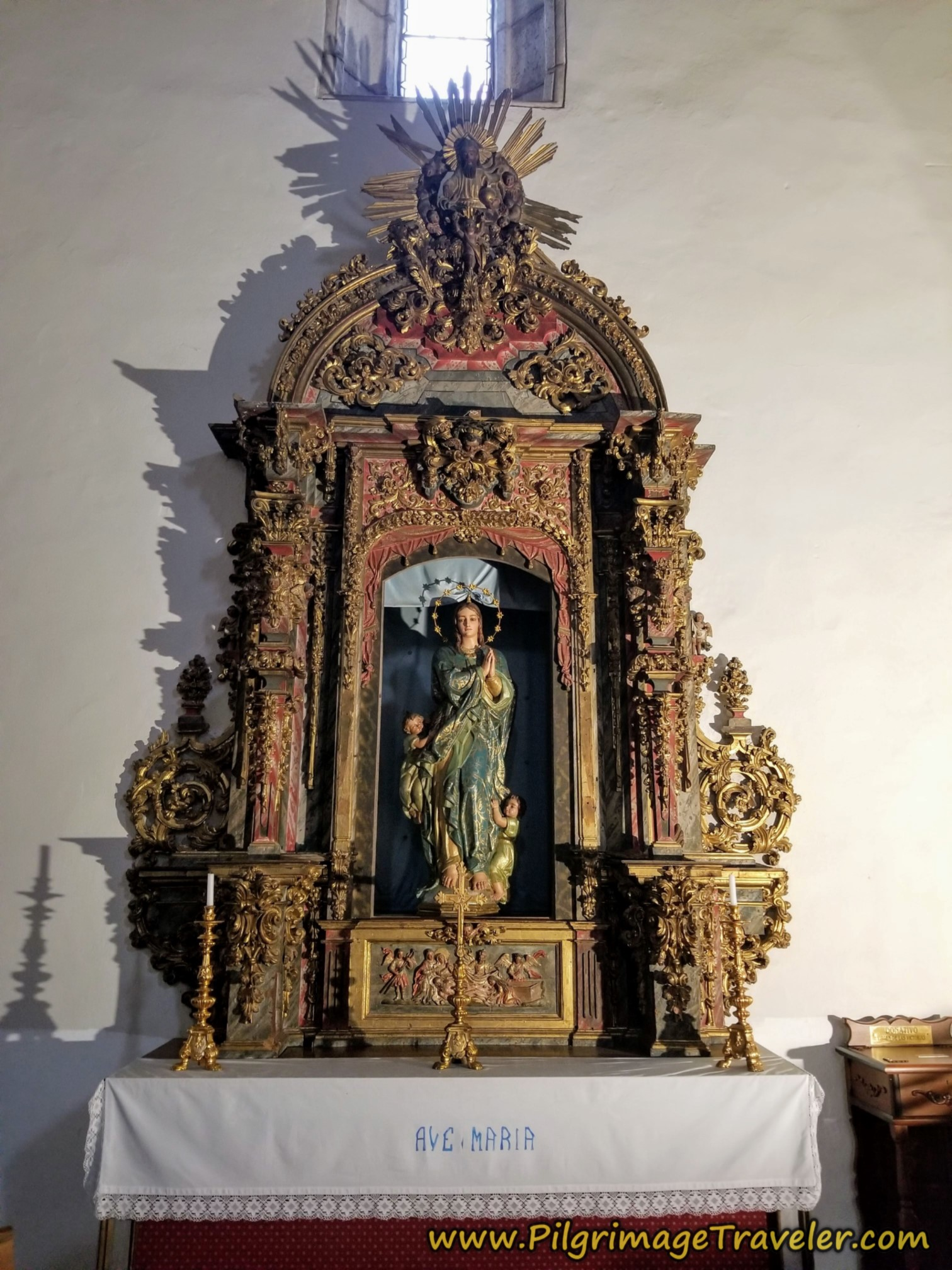 Side Altar of San Azogue, Children at Her Feet