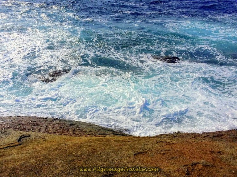 Water's edge at Land's End in Muxía, Spain ~ A Place for Endings and Beginnings!