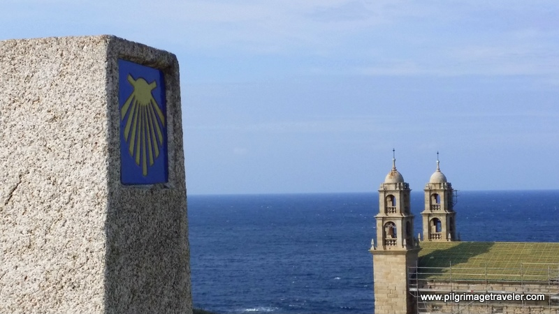 Zero Kilometer Waymark and the Nosa Señora da Barca Steeples