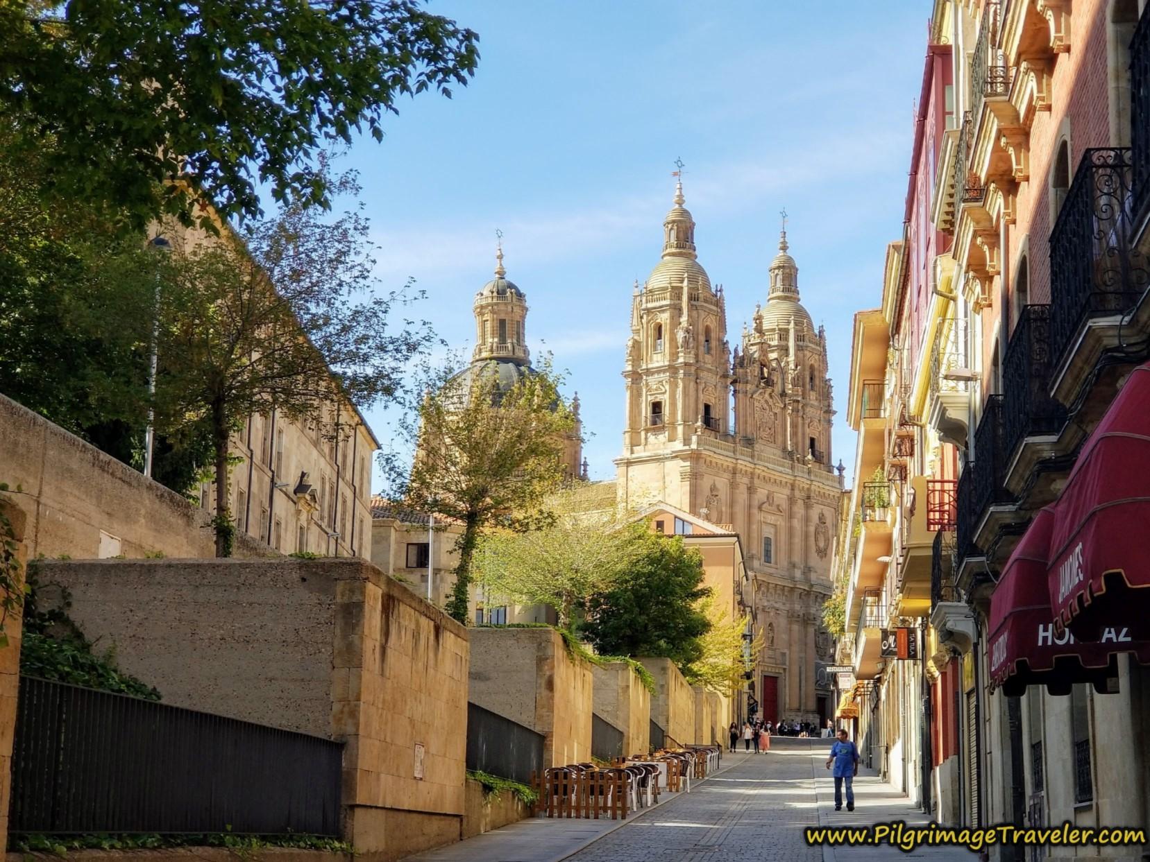 Calle Palominos, View of Iglesia de la Clerecía