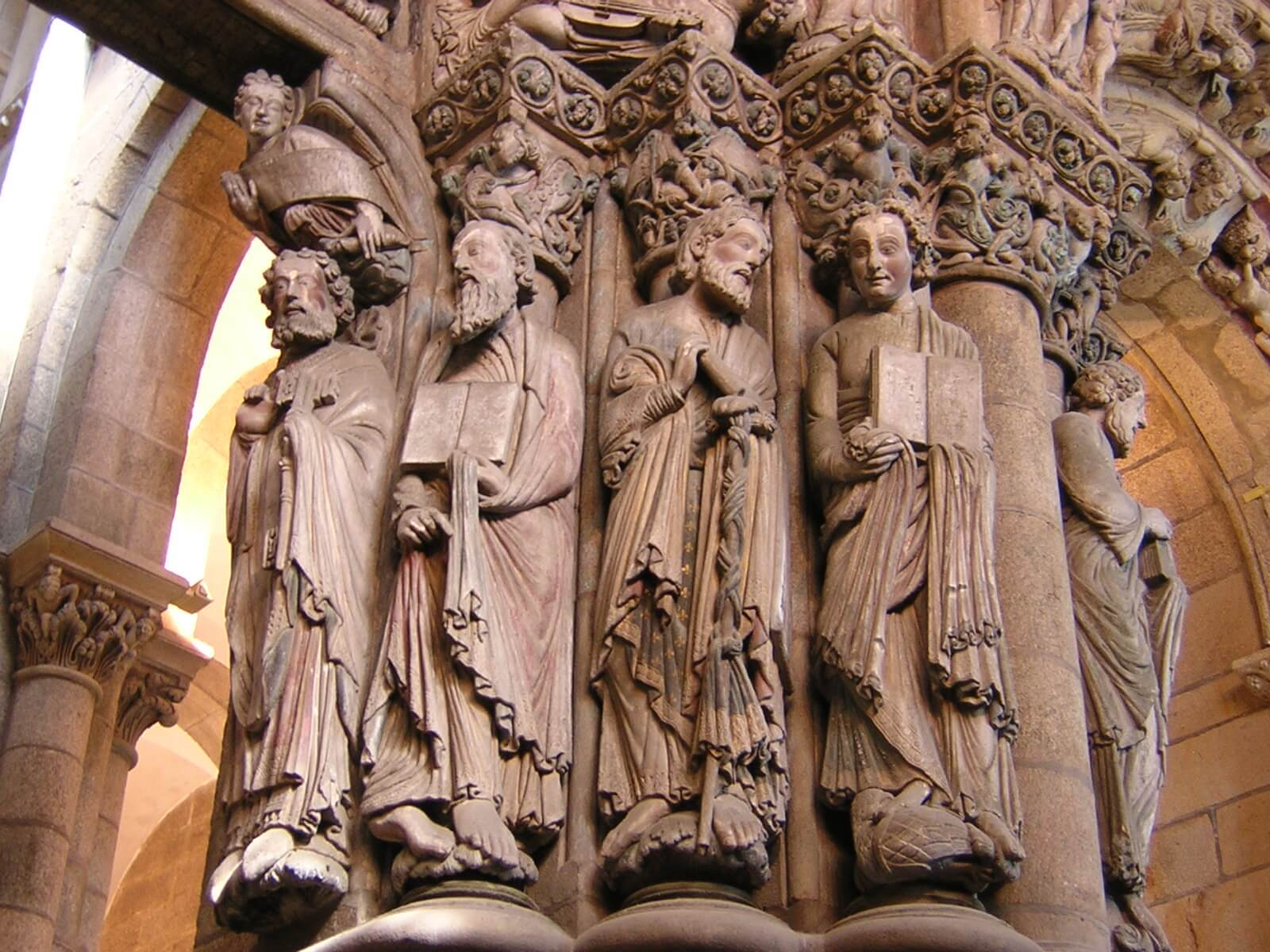 Inside the Cathedral of Santiago de Compostela, the Apostles