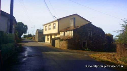 Juxtaposition of Old Building and New Building, Camino Inglés, Spain