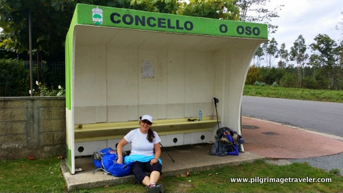 Bus Stop Rest Stop, Camino Inglés, Spain