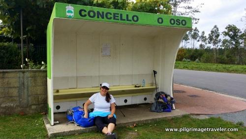 Bus Stop Rest Stop, Camino Inglés, Spain