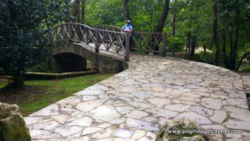 New Bridge and Path into Sigüeiro, Camino Inglés, Spain