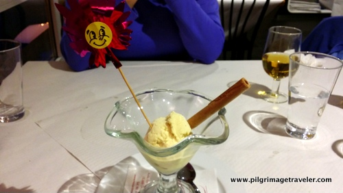 Ice Cream with Smiley Face and a Cookie