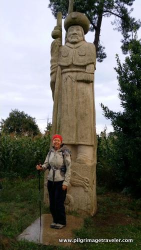 Sculpture of Santiago, O Porto, Camino Inglés, Spain