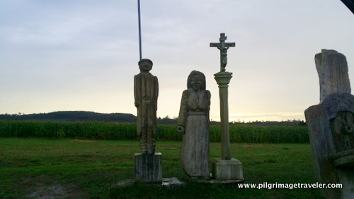 Statues, O Porto, Camino Inglés, Spain