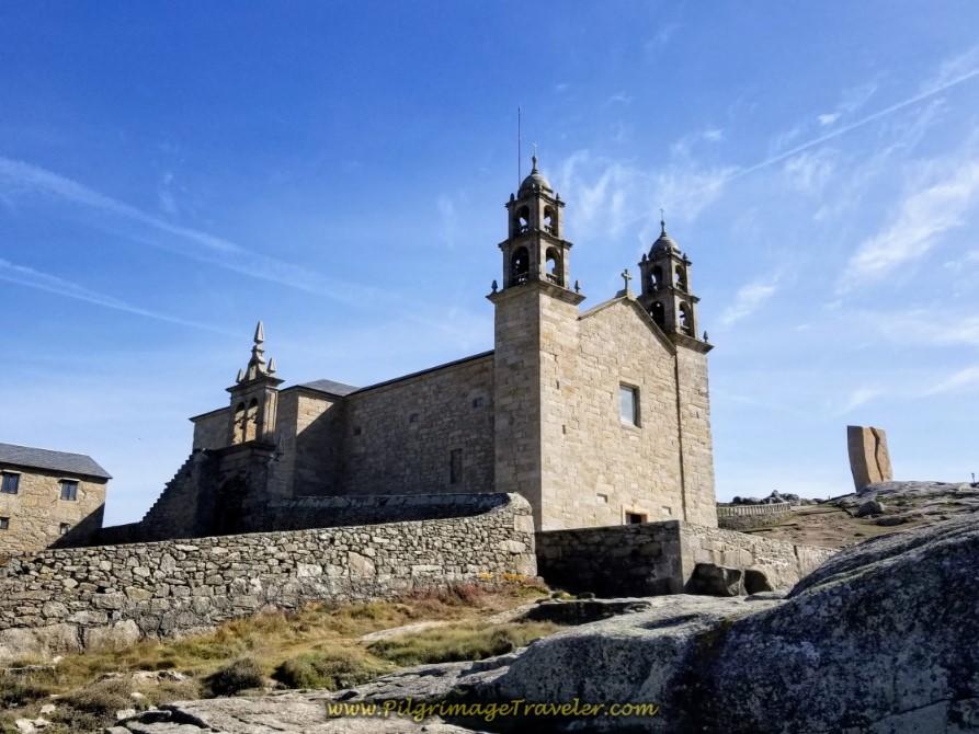 Seaside View of the Nosa Señora da Barca Sanctuary and Prestige Monument, Muxia