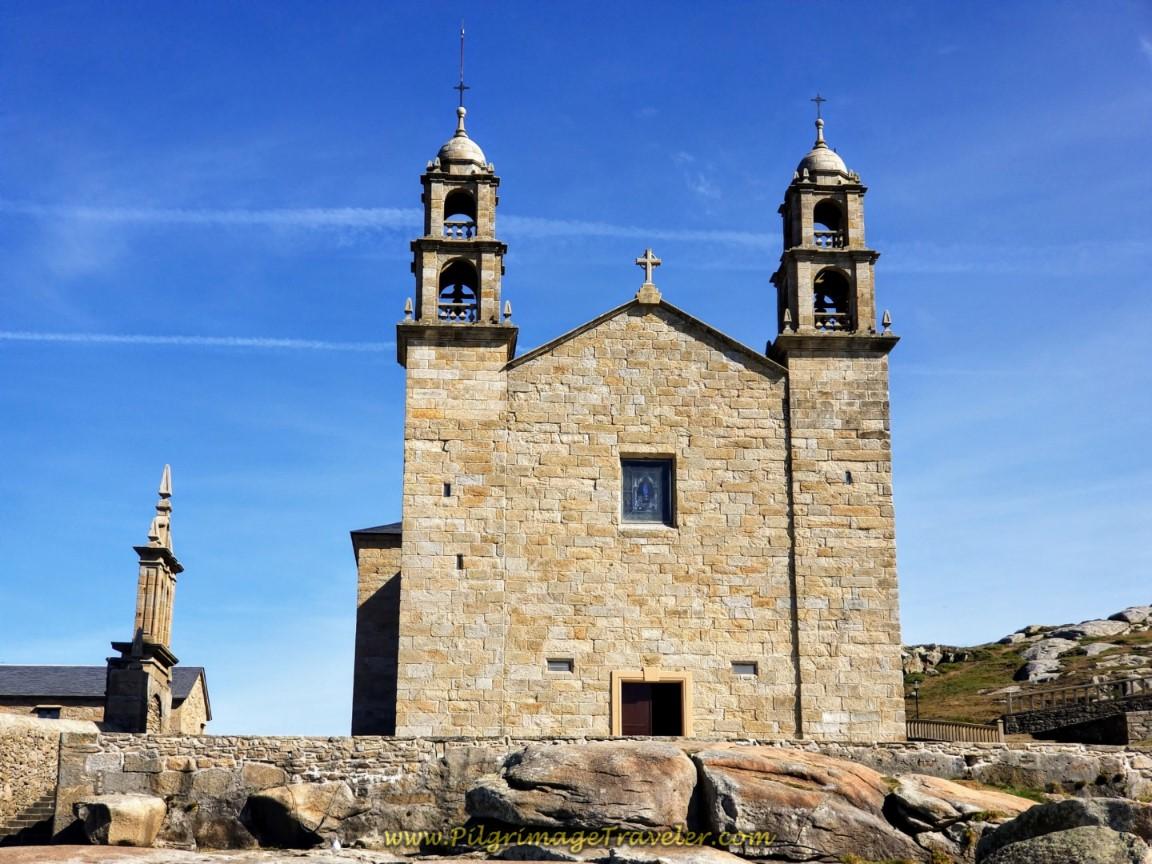 Front View of the Nosa Señora da Barca Sanctuary