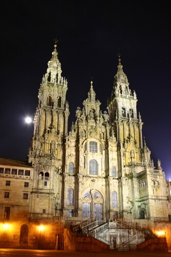 Cathedral of Santigo de Compostela, at night