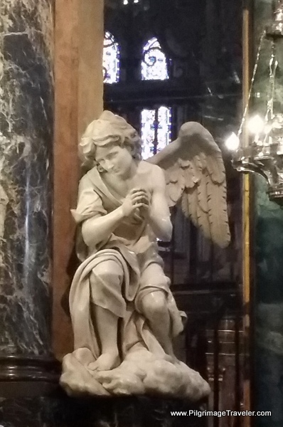 Close-Up of One of the Angels on Main Altar, Cathedral of Lugo, Spain